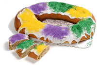 Authentic New Orleans Mardi Gras King Cake