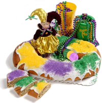 New Orleans Mardi Gras King Cake